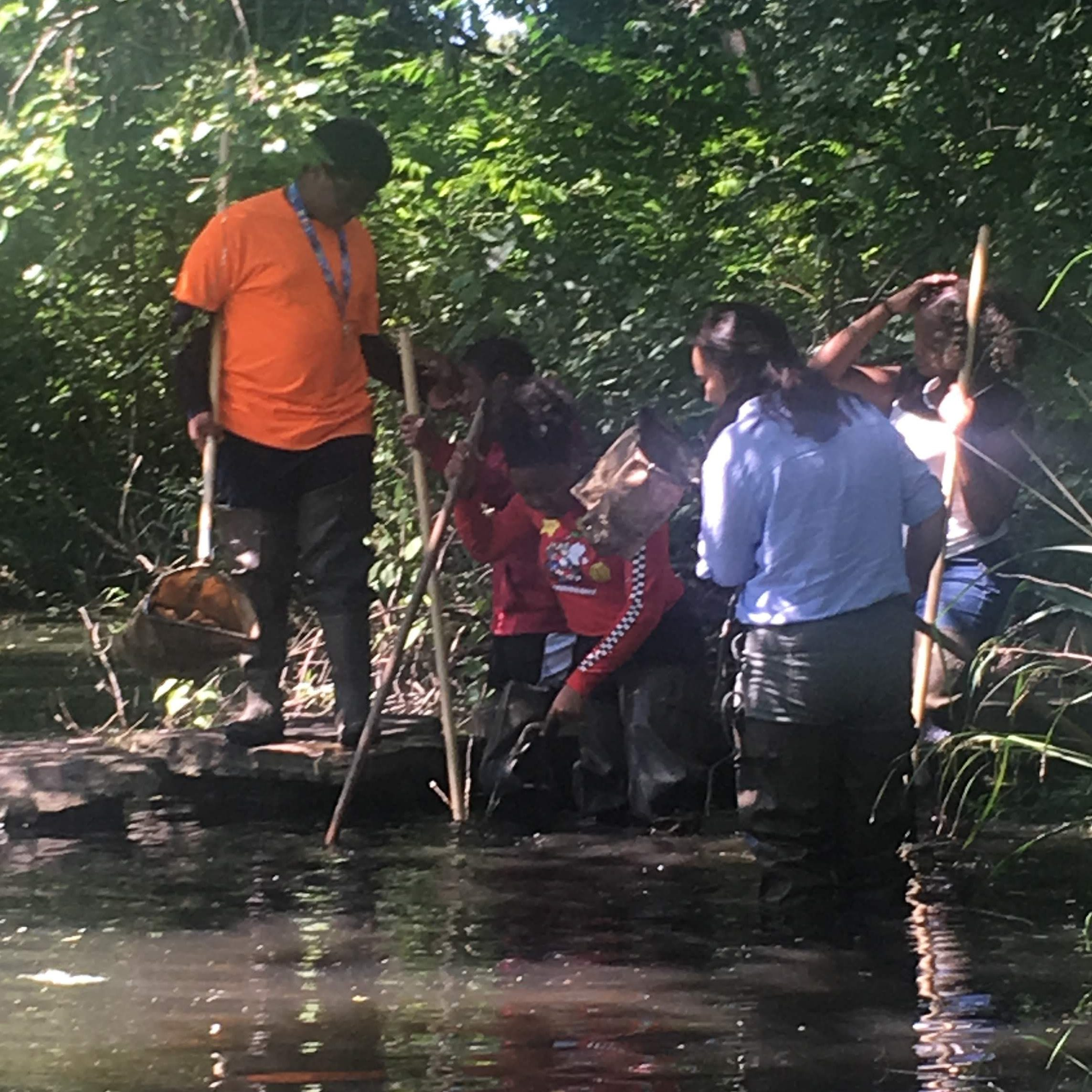 Getting dirty, assessing the health of the lagoon